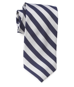 Tie – College Rep 68186 #17 Navy SIlver
