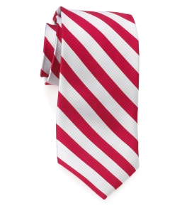 Tie – College Rep 68186 #1 Red and Silver