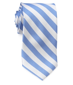 Tie – College Rep 68186 #3 Light Blue and Silver