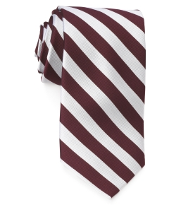 Tie – College Rep 68186 #6 Burgundy Silver